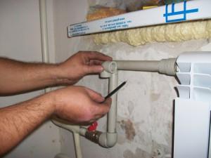 разметка подключения радиатора отопления