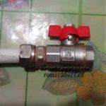 Монтаж крана на металлопластиковую трубу