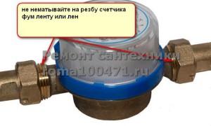 инструкция по замене счетчика воды