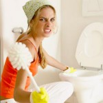 Как убрать налет на унитазе